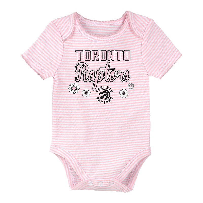 release date f5858 ffd84 Toronto Raptors Infant Girls' 3rd Down Creeper Set - 3-Piece