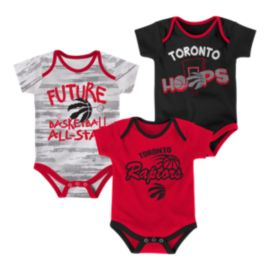 Toronto Raptors Infant Bodysuit Set - 3-Piece