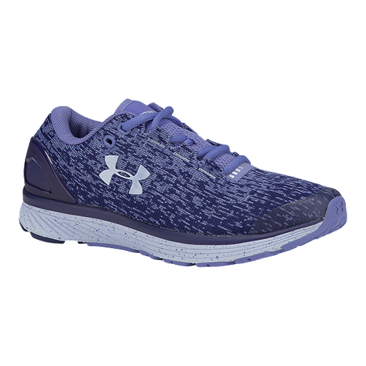 5ebd5d7b68 Under Armour Girls' Charged Bandit 3 Grade School Running Shoes - Blue/All  Over Print