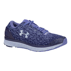Under Armour Girls' Charged Bandit 3 Grade School Running Shoes - Blue/All Over Print