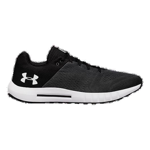 6a77c5402 Under Armour Men's Micro G® Pursuit Running Shoes - Black/White | Sport Chek