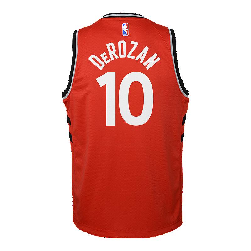 d61ca6c39 ... where to buy toronto raptors kids demar derozan icon swingman  basketball jersey sport chek 795e8 284d9