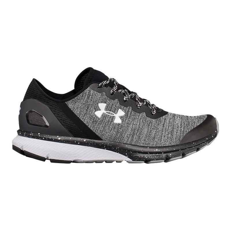40197cafae70 Under Armour Women s Charged Escape Running Shoes - Black White ...