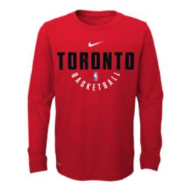 Toronto Raptors Kids' Elite Practice Long Sleeve Shirt