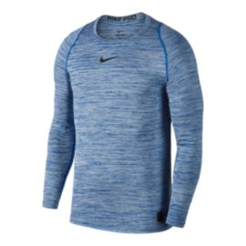 Nike Men's Pro Fitted Heather Long Sleeve Shirt