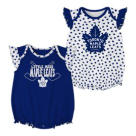Toronto Maple Leafs Infant Girls' Hockey Hearts Creeper Set - 2-Pack