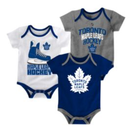Toronto Maple Leafs Infant Hat Trick Creeper Set - 3-Pack