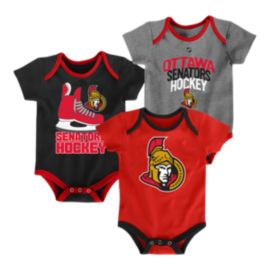 Ottawa Senators Infant Hat Trick Creeper Set - 3-Pack