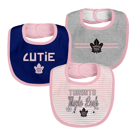 reputable site 1b68f 64060 Toronto Maple Leafs Infant Girls' Fair Catch Bib Set - 3-Piece