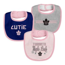 Toronto Maple Leafs Infant Girls' Fair Catch Bib Set - 3-Piece