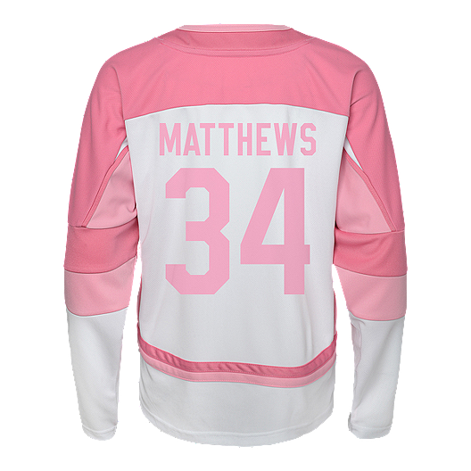 c5a46e162e6 Toronto Maple Leafs Girls' Auston Matthews Pink Hockey Jersey | Sport Chek
