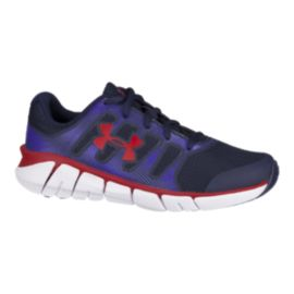 Under Armour Kids' Charged Jettison Grade School Shoes - Navy/Red/White