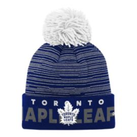 Toronto Maple Leafs Kids' Authentic Pro Cuffed Pom Knit