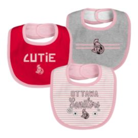 Ottawa Senators Infant Girls' Fair Catch Bib Set - 3-Piece