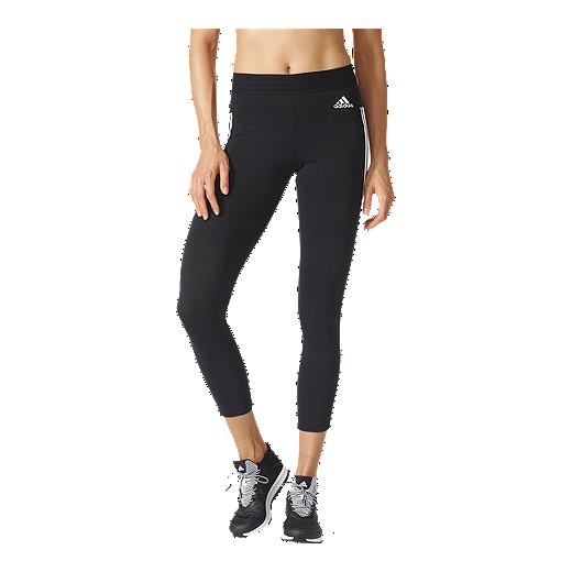 4f5bf458412be adidas Women's Athletics Essentials 3-Stripes Tights - BLACK/WHITE