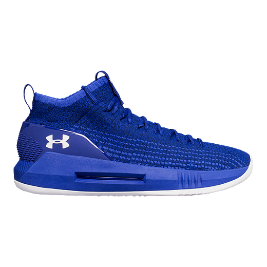 b0b3619fce3 Under Armour Men s Heat Seeker Basketball Shoes - Blue White - FORMATION  BLUE JUPITER