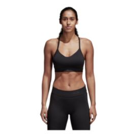 adidas Women's All Me 3-Stripe Low Padded Sports Bra