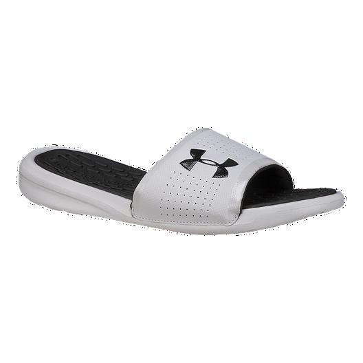 776e0b0e21a086 Under Armour Men s Playmaker Fix SL Sandals - White Black