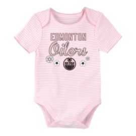 Edmonton Oilers Infant Girls' 3rd Down Creeper Set - 3-Piece