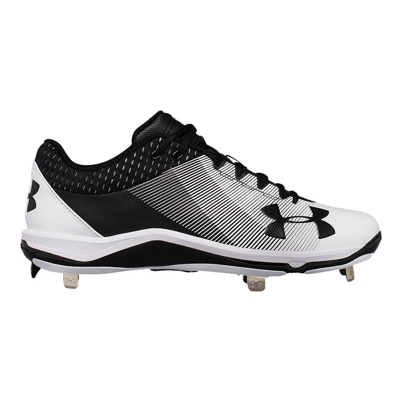 56d65a57613 Under Armour Men s Ignite Metal Low Baseball Cleats - Black White  (190510740777) photo