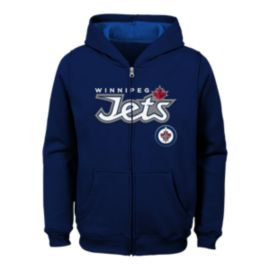 Winnipeg Jets Kids' Stated Full Zip Hoodie