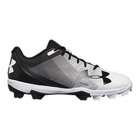 7d68a997b9bd Under Armour Men s Leadoff RM Low Baseball Cleats - Black White