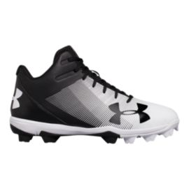 Under Armour Men's Leadoff RM Mid Baseball Cleats - Black/White