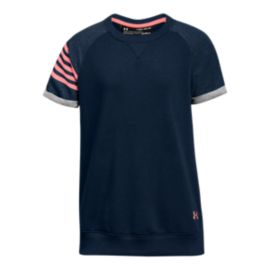 Under Armour Girls' Favourite Terry Crew Shirt