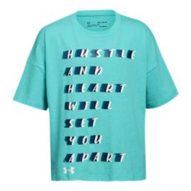Under Armour Girls' Hustle Set Apart T Shirt