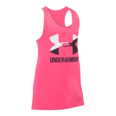 Under Armour Girls' Big Logo Slash Tank