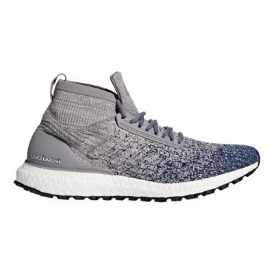 adidas Men's Ultra Boost All Terrain Running Shoes - Grey/Blue