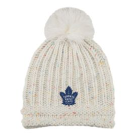 Toronto Maple Leafs Women's Knit Beanie With Pom