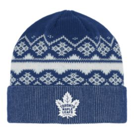Toronto Maple Leafs Fair Isle Cuffed Beanie