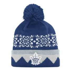 Toronto Maple Leafs Snowflake Cuffed Pom Knit