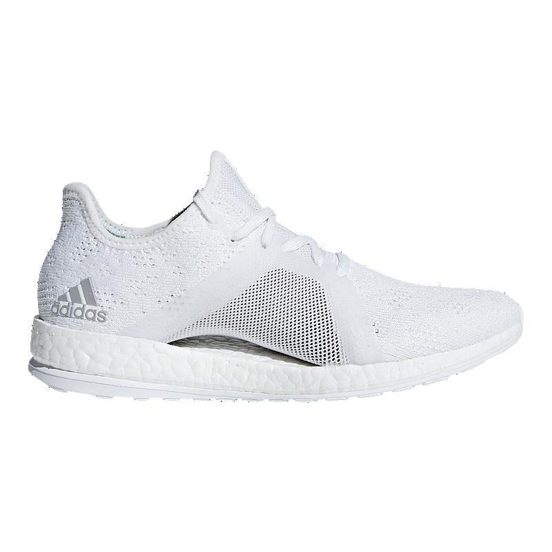 dcd3e54daa6c45 adidas Women s Pure Boost X Element Running Shoes - White Grey Green ...