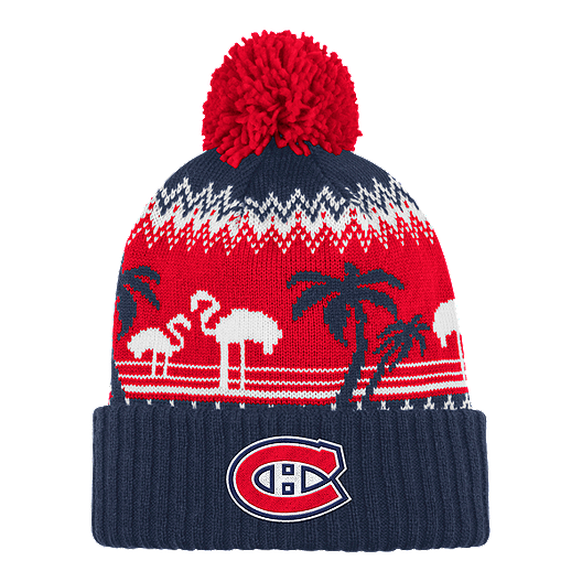 newest a1a31 fb3b9 Montreal Canadiens Ugly Sweater Cuffed Pom Knit