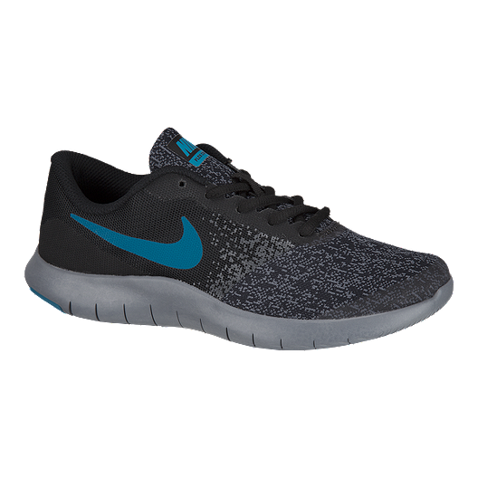 7c4ea465283ba Nike Kids  Flex Contact Grade School Shoes - Black Blue Grey