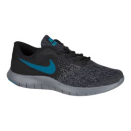 Nike Kids' Flex Contact Grade School Shoes - Black/Blue/Grey