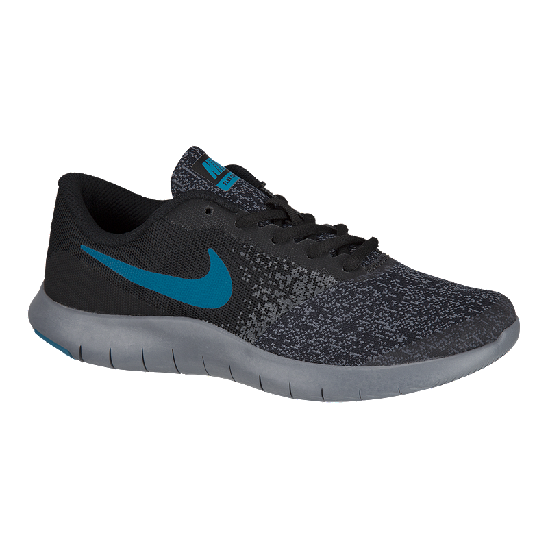 dec2fef493f0 Nike Kids  Flex Contact Grade School Shoes - Black Blue Grey