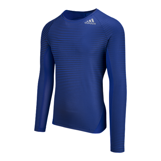 5a67497a7 adidas Men's Alphaskin Sport Print Compression Long Sleeve Training Shirt -  MYSTERY INK