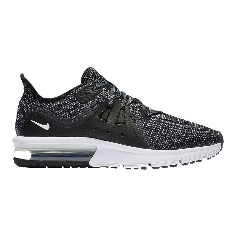 outlet store 1f38f 04e33 Nike Kids  Air Max Sequent 3 Grade School Shoes - Black White (884802566434