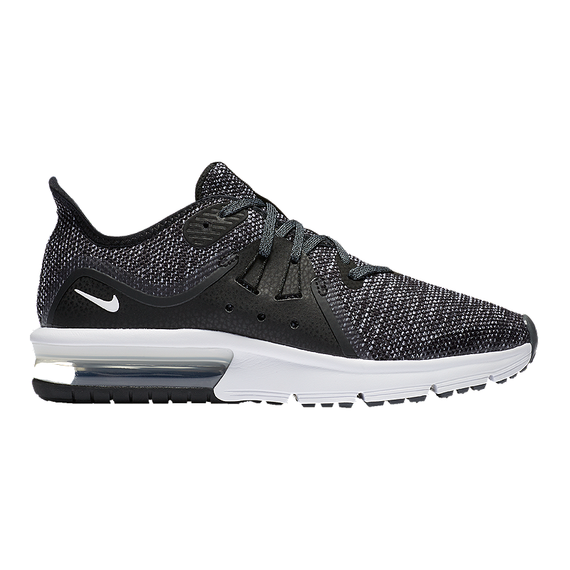 10a1a2717c Nike Kids' Air Max Sequent 3 Grade School Shoes - Black/White | Sport Chek