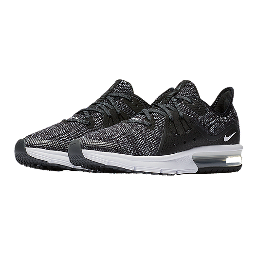 5de5bbac98 Nike Kids' Air Max Sequent 3 Grade School Shoes - Black/White. (0). View  Description