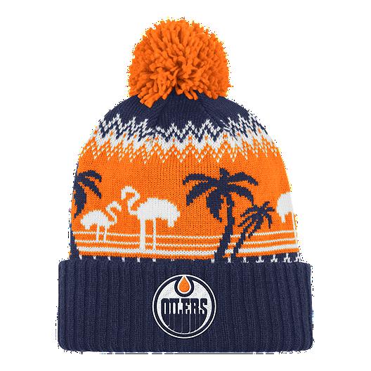 buy popular 495a8 29274 Edmonton Oilers Ugly Sweater Cuffed Pom Knit   Sport Chek