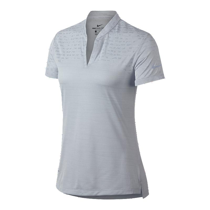 6949008bae31 Nike Golf Women s Zonal Cooling Short Sleeve Jacquard Polo