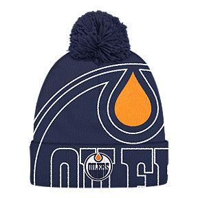 2c985d19f6d Edmonton Oilers Cuffed Pom Knit