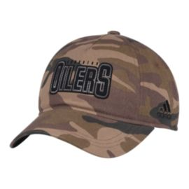 Edmonton Oilers Women's Camo Adjustable Slouch Hat