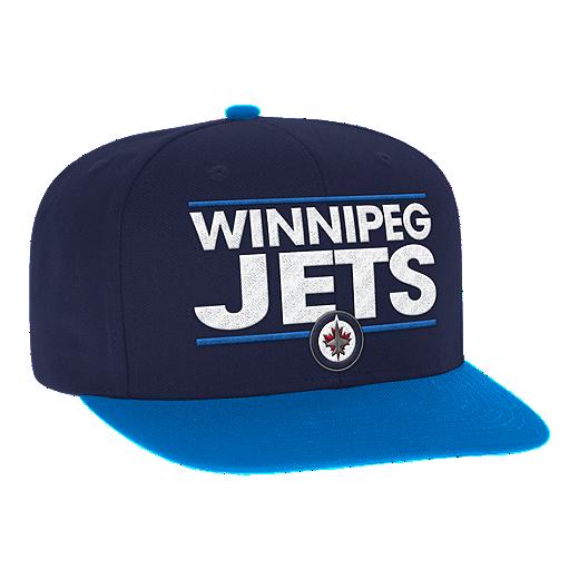 3d5e7f38 closeout winnipeg jets cap navy 205b8 f68e4