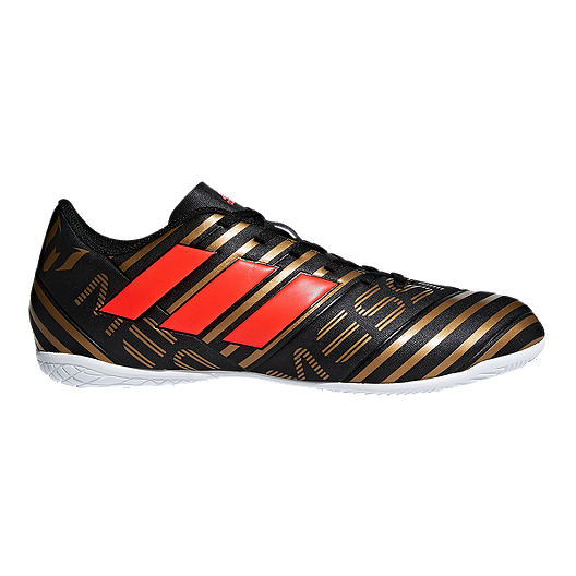 22d6e65bf adidas Men's Nemeziz Messi Tango 17.4 Indoor Soccer Shoes - Black/Red/Gold  | Sport Chek