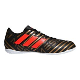adidas Men's Nemeziz Messi Tango 17.4 Indoor Soccer Shoes - Black/Red/Gold